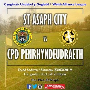 St Asaph City 4-1 CPD Penrhyndeudraeth