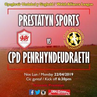 Prestatyn Sports 1-3 CPD Penrhyndeudraeth