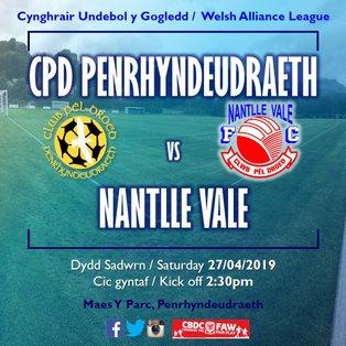CPD Penrhyndeudraeth 5-3 Nantlle Vale