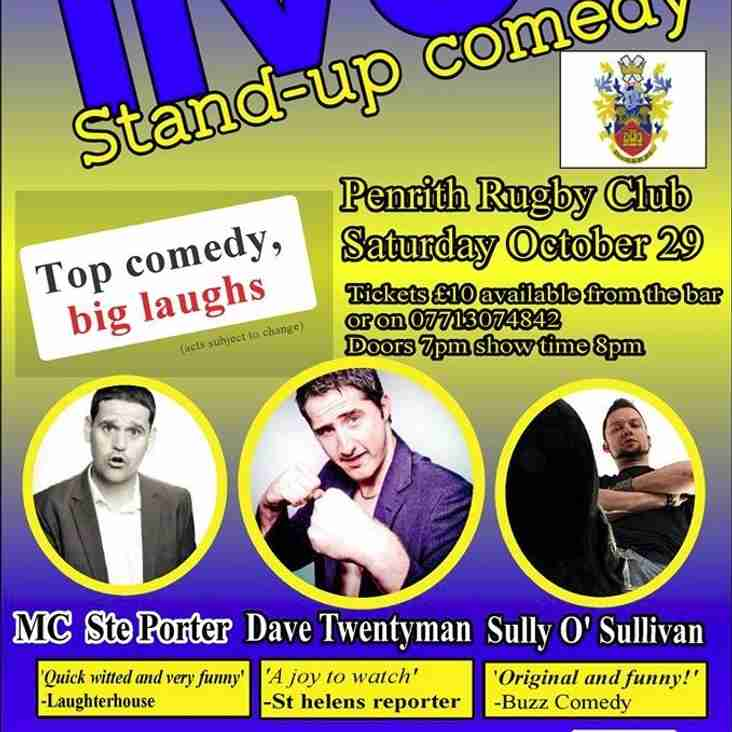 Comedy Night @ PRUFC Saturday 29th October