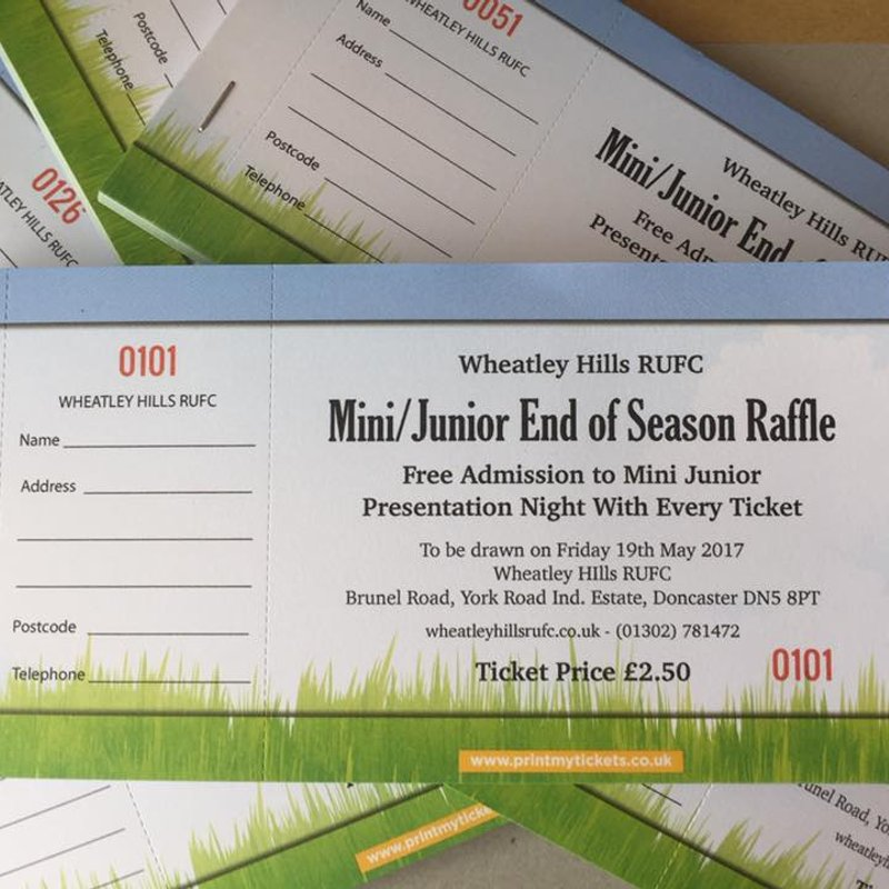 Mini Junior End of Season Raffle