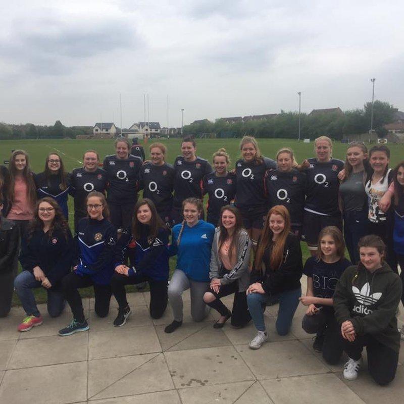Wheatley Girls Meet England Stars