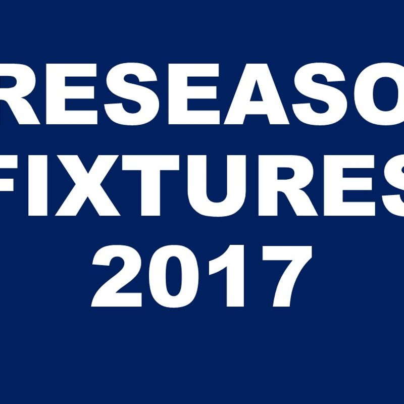 Senior Pre Season Fixtures Announced