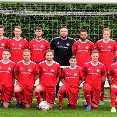 Team line up before Penrhyncoch