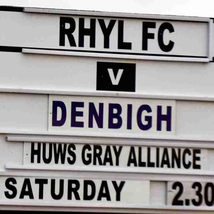 Match Preview Rhyl v Denbigh Town Saturday 9th Dec 2017