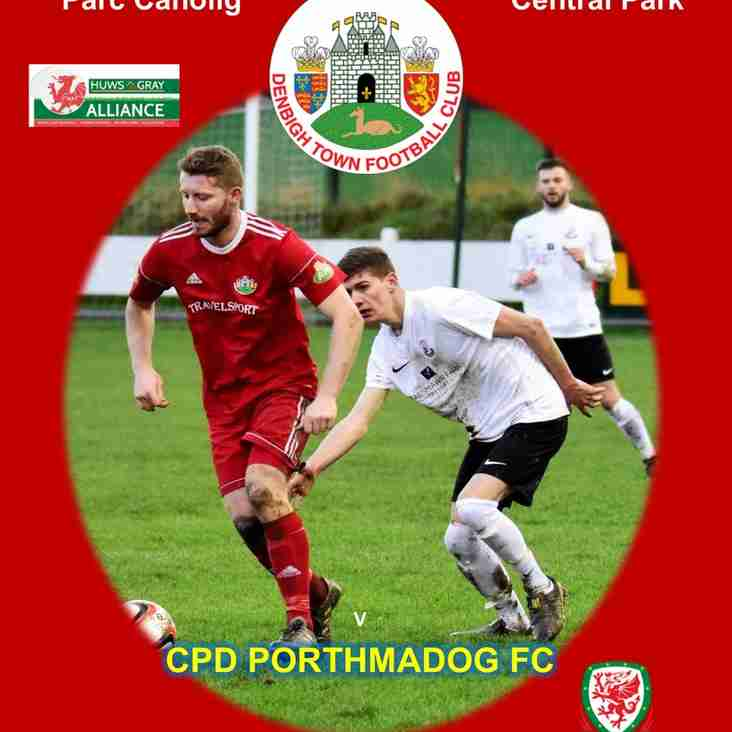 Match Preview Denbigh Town v Porthmadog Sat 20th Jan 2.30pm