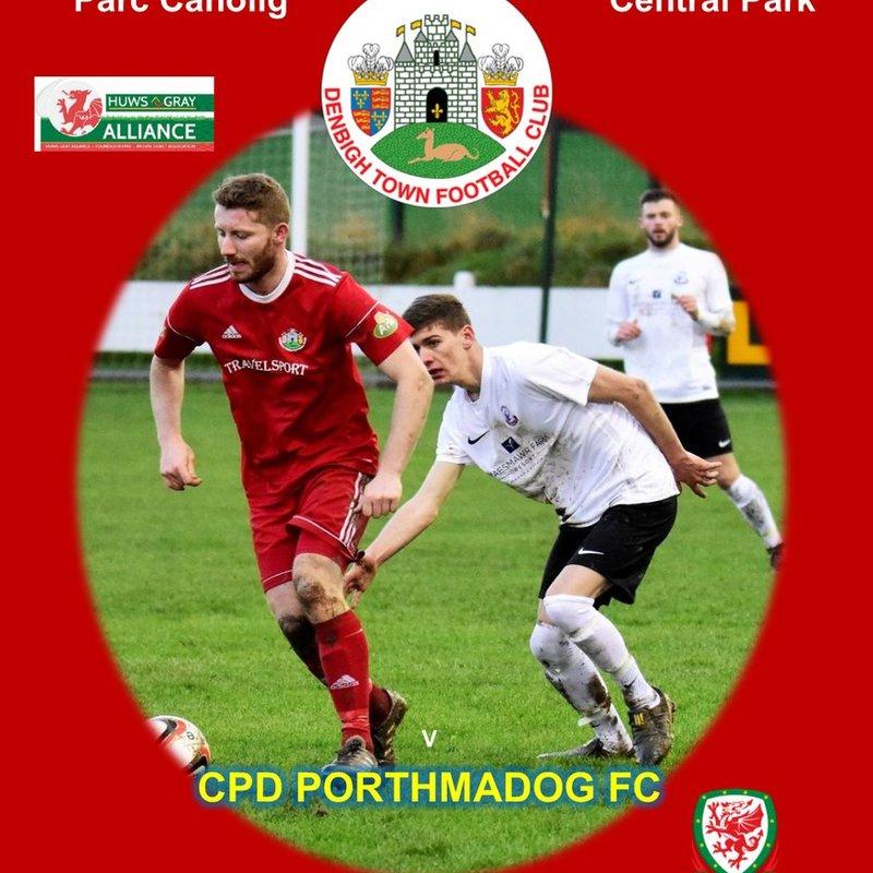 Match Preview Denbigh Town v Porthmadog Sat 20th Jan 2.30pm