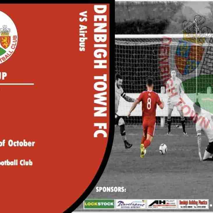 Quarter Final of League Cup tomorrow Sat 6.10.18
