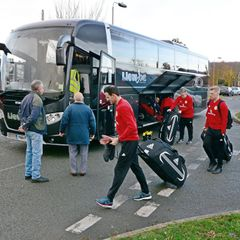 Scotland u19s arrive at Denbigh