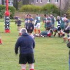 Ian Bishop try for Clydebank vets v GHA