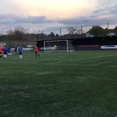 Morgys penalty v AFC Macclesfield