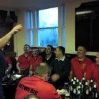 singing after Warriors match in Edinburgh Northern