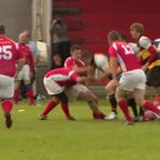 Bumbles score 2nd half try v Llanelli Warriors TRI Unions 2013