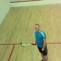 Squash trick shot