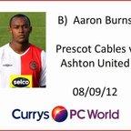 AUTV Goal of the Month Sept 2012 Winner - Aaron Burns