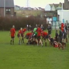 Peterhead Vs Dyce - First half try.  15/01/11