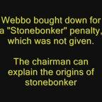 Webbo's penalty appeal