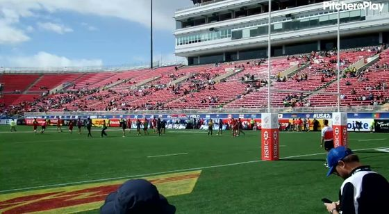 Player Eleven kicks a conversion for France Select 7s