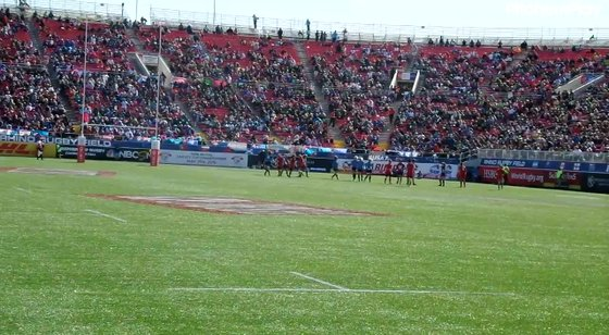 Player Eleven misses a conversion for France