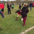 Under 11's St Neots warm up Feb 2014