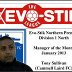 Manager of the Month (January) Tony Sullivan