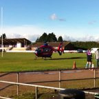 Air Ambulance Lands on 1st Team Pitch!