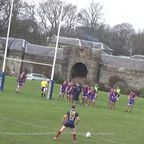 BT Cup Marr Rugby v Dundee (27.2.16) Stuart Howie try after great passage of good handling from Marr