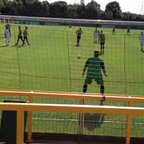 Paul Clayton scores Romfords 3rd from the penalty spot against Thurrock.