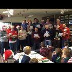 Long Buckby Mini Christmas Party 2014 - Coaches Singing 'God Rest Long Buckby Rugby Club'