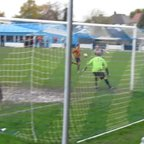 Dan Wiskers shot on goal is deflected into the Folkestone net for the winner