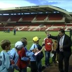 Under 9's meet Billy Davies