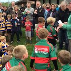 Paviors U7 collect their Shield at Hinckley RFC - 27 Apr 2014