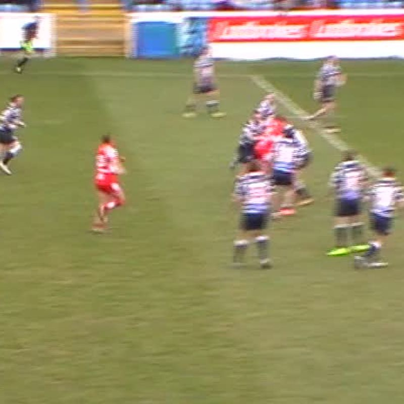 Fozzard try vs Featherstone Lions