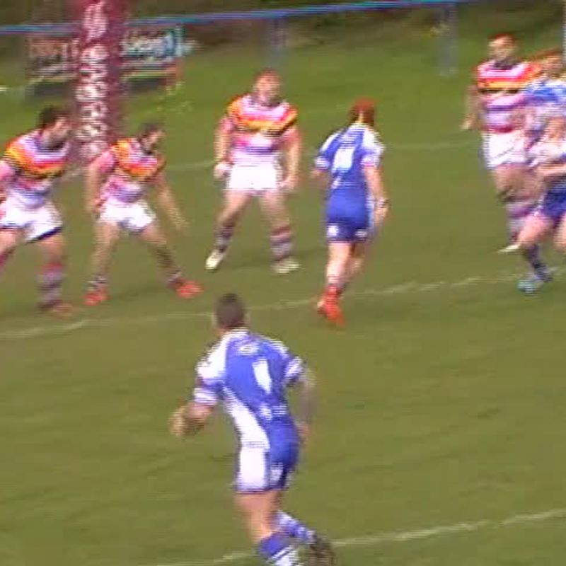 Hayward try vs Pilkington Recs