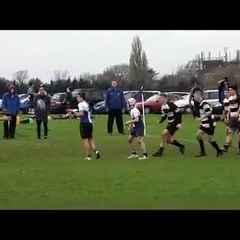U16 James Almost Scoring a Try
