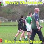 Santa brings joy to the M & J training session.