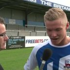 Boro TV - interview with Gaz Dean after his 300th appearance for Nuneaton Town (vs Aldershot 13th Sept 2014)