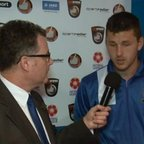 BoroTV - interview with Aaron Williams after scoring in the North Ferriby match (31st Oct 2015)