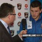 BoroTV - interview with Aaron Williams after the Chorley Draw (19th Dec 2015)