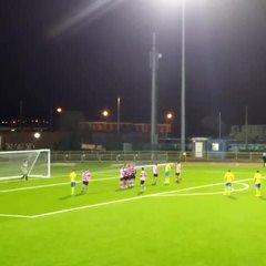 Jordan Cotterill scores free-kick vs Taffs Wall