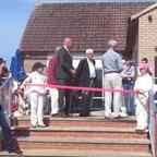 Geddington Cricket Club Pavilion Opening Sunday 8th May 2016.