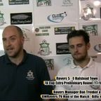 Dan Trenkel Post Match Interview After Rovers 5-0 win against Halstead Town