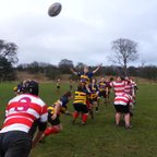 15/12/13 - Warley women's line out