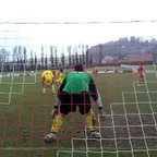 Denbigh Reserves v Llandyrnog United Reserves : Gareth Pope bossing it.
