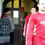 Denbigh Town exit the Dressing room
