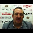 Grantham Town v Matlock Town 11-01-2014 post match Interview with Grantham Town Joint Manager Jimmy Albans