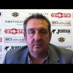Grantham Town v Rushall Olympic 12th April 2014 - Post match interview with Grantham Town Joint Manager Jimmy Albans