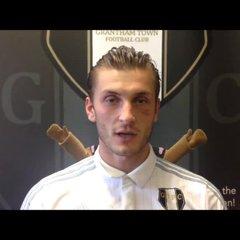 10-9-2016 - Grantham Town v Nantwich Town - Grantham Town Captain Stefan Galinski
