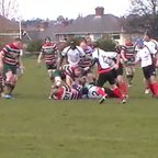 Mick Tate try v Moseley Oak