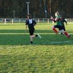 Rogan Paul scoring for Dunbar rfc u13 v Berwick